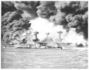 Destruction at Pearl Harbor
