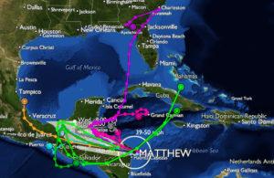 Hurricane Matthew Route